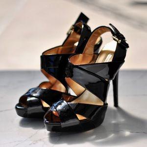 Report Signature Black Platform Sandals